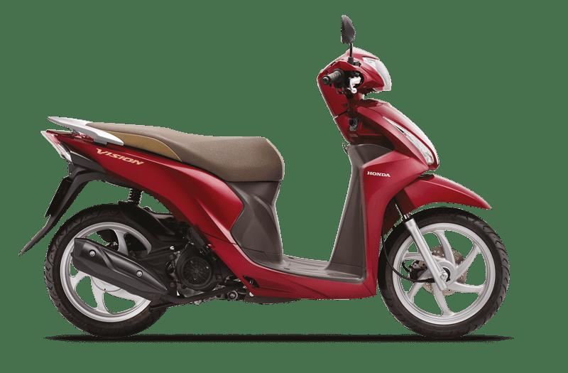 Honda vision Đỏ Nâu Đen