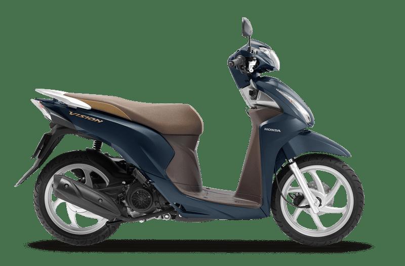 Honda Vision xanh lam nâu