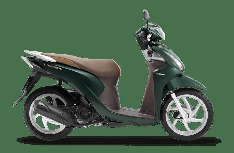 Honda Vision màu xanh lục nâu