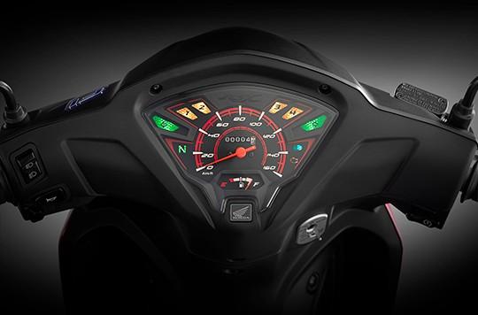 Mặt đồng hồ Honda Wave RSX FI có đôi chút cải tiến