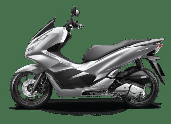Mẫu Honda PCX màu bạc đen